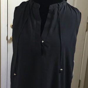 14th&union black sleeveless top NWT